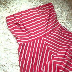 Limited striped + chevron maxi dress